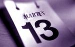 LA SUPERSTICIÓN DEL MARTES Y13