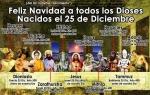 DIOSES NACIDOS EL 25 DEDICIEMBRE